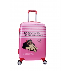 Mafalda Kids maleta cabina 4R rosa