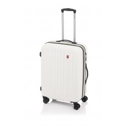 Gladiator Zebra maleta mediana expandible 4R - blanco