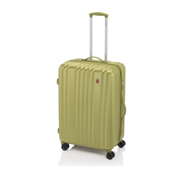 Gladiator Zebra maleta mediana expandible 4R-verde