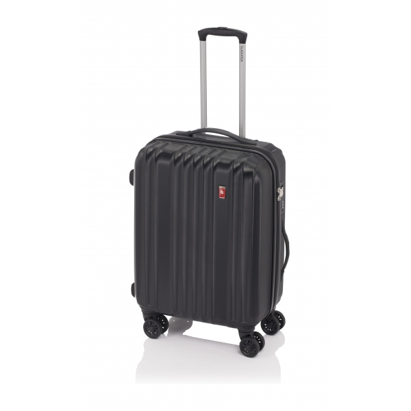 Gladiator Zebra maleta mediana expandible 4R- negra