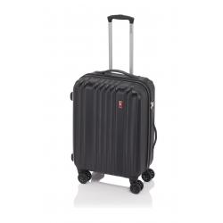 Gladiator Zebra maleta grande expandible 4R- negro