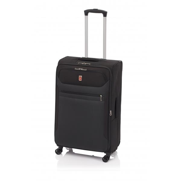 Gladiator 3D maleta grande expandible 4R - negro