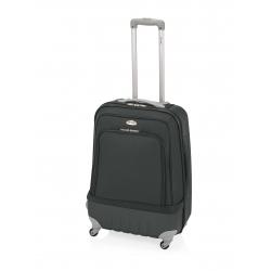 John Travel Land maleta cabina híbrida 4R negro