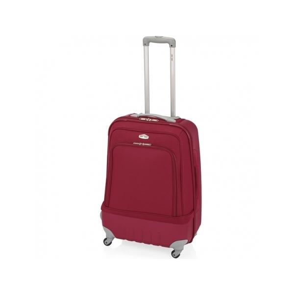 John Travel Land maleta mediana híbrida 4R rojo