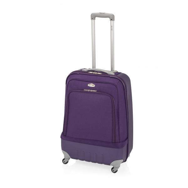 John Travel Land maleta grande híbrida 4R lila