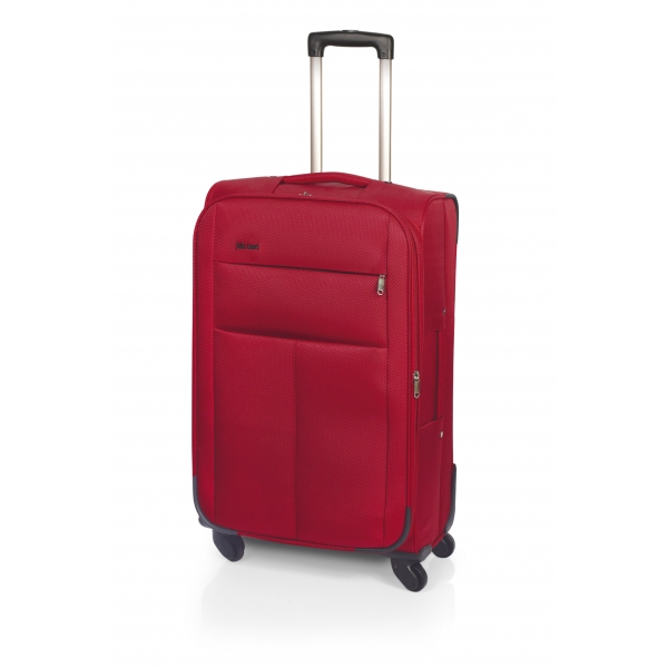 John Travel Square maleta grande expandible 4R rojo