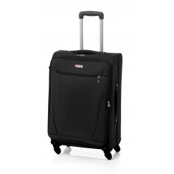 John Travel Bersi maleta mediana expandible 4R negro