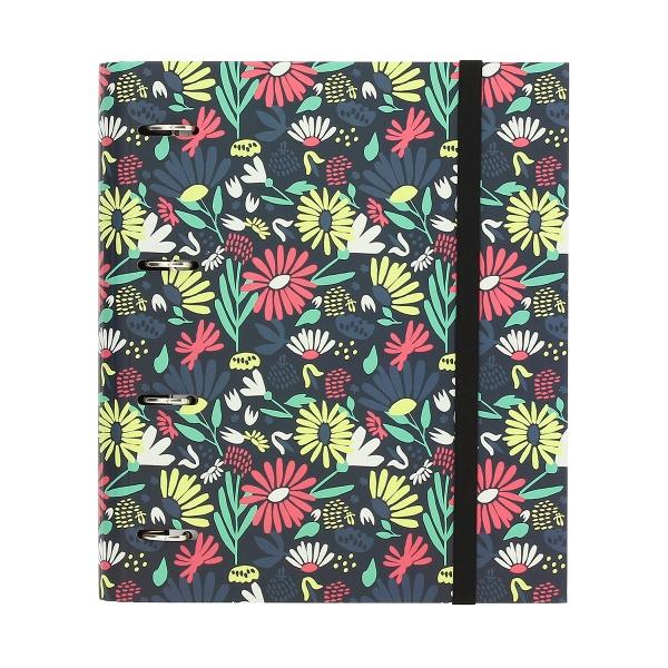 Totto - Carpeta 4 anillas estampado floral Tida