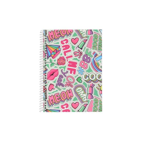 Totto - Cuaderno A5 tapa forrada estampado multicolor Yeah