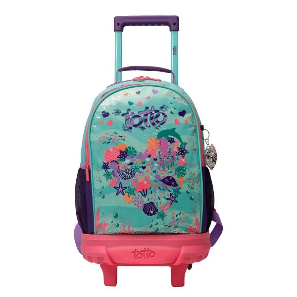 Totto-Mochila escolar pequeña ruedas - Confetti Happy