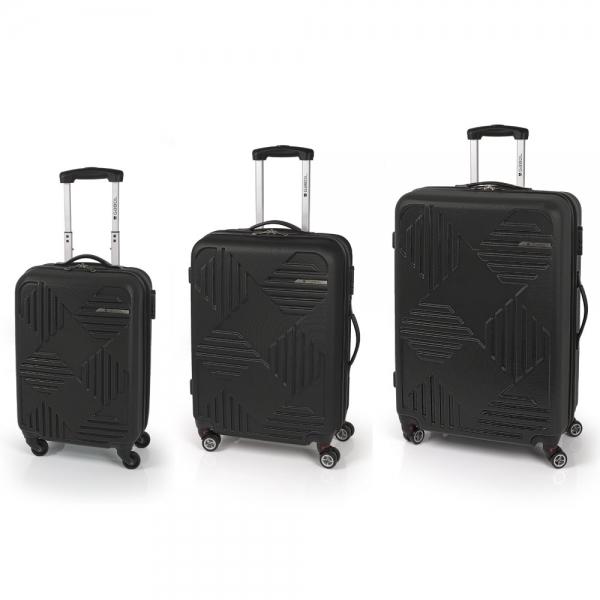 Gabol Kiev Jgo 3 maletas 4R Negro