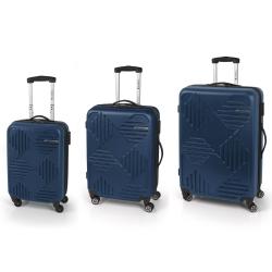 Gabol Kiev Jgo 3 maletas 4R Azul