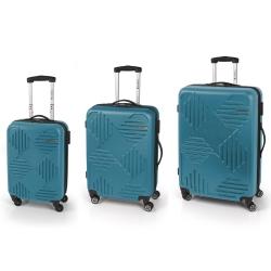 Gabol Kiev Jgo 3 maletas 4R Turquesa