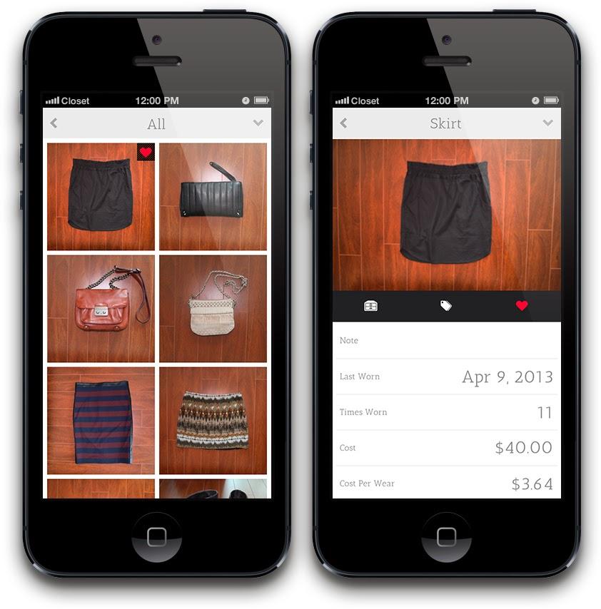 Closet app maletas