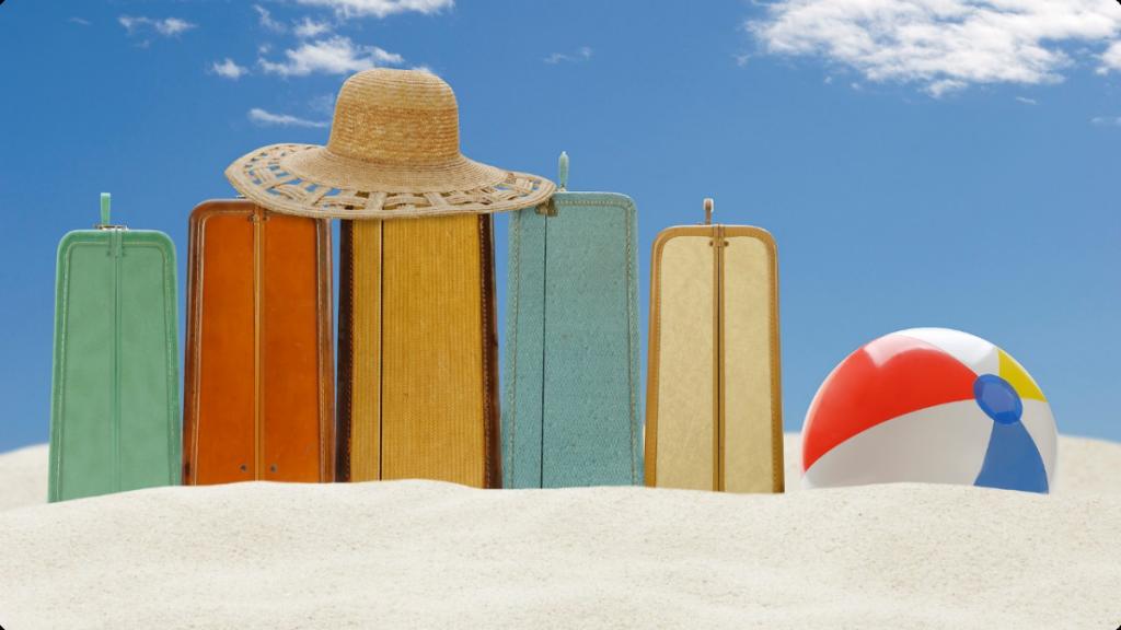 hacer las maletas en verano