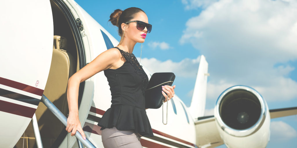 Tired air stewardess