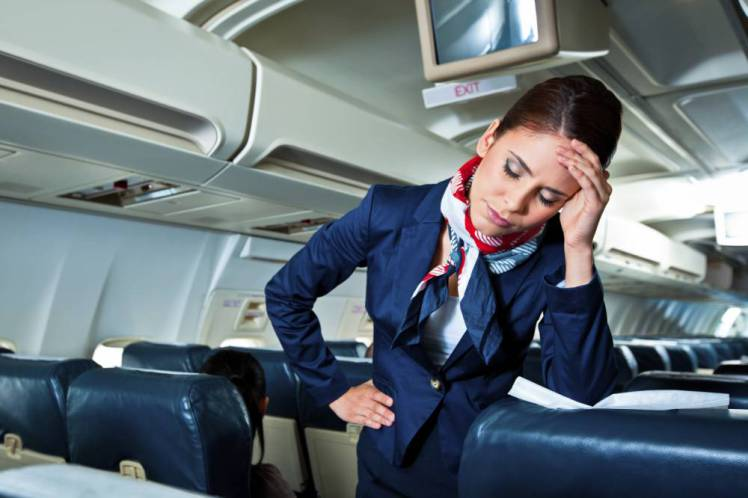 jetlag Tired air stewardess