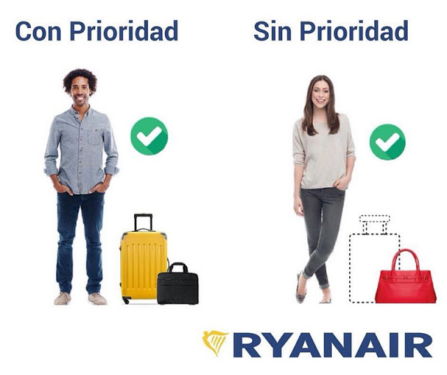 Ryanair maleta de cabina