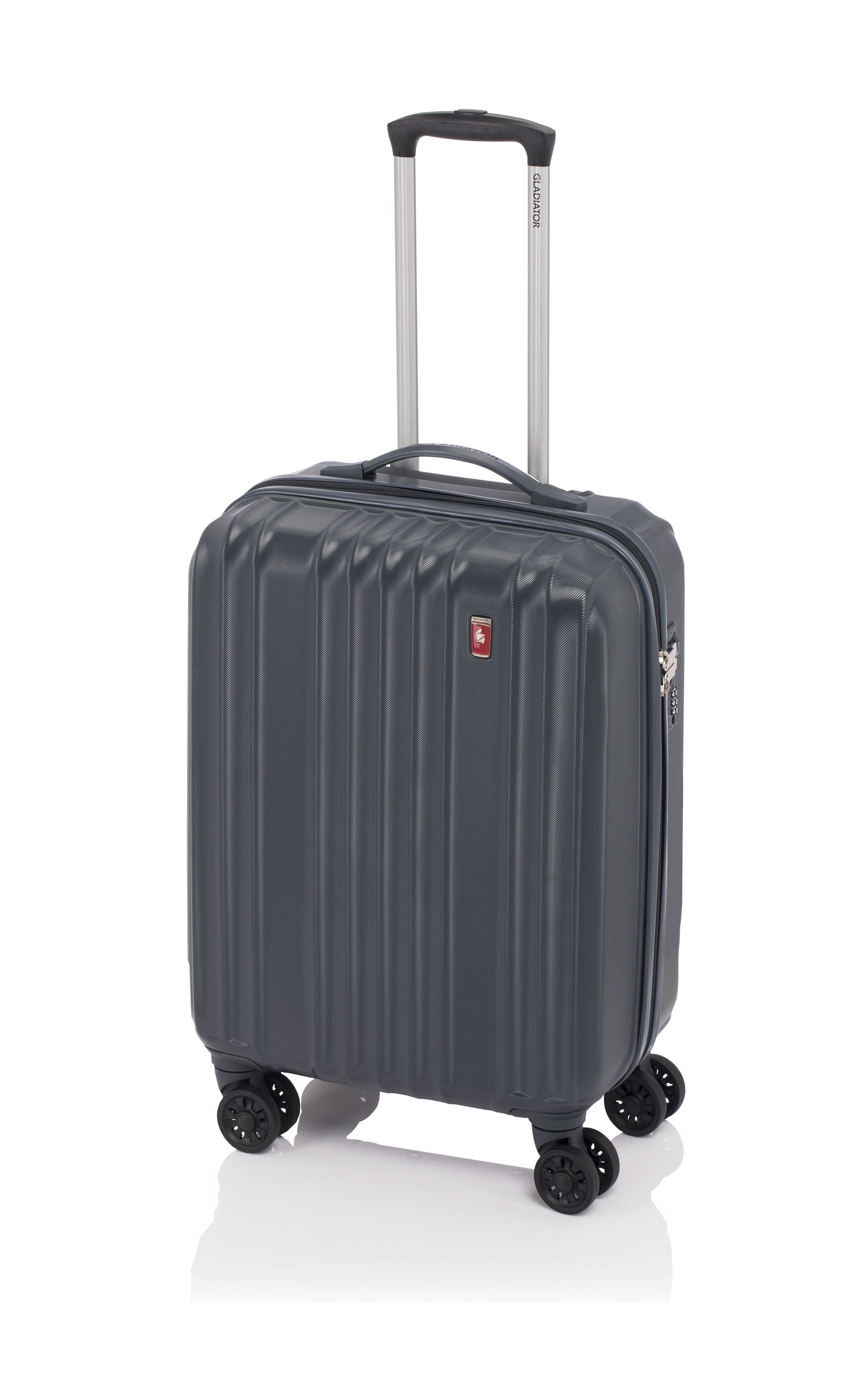 Gladiator Zebra maleta cabina 4R - gris